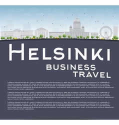 Helsinki skyline and copy space vector image