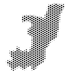 Hexagon republic of the congo map vector