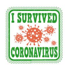 I survived coronavirus grunge rubber stamp vector