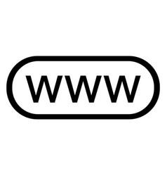 Icon www - black vector