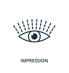 Impression icon from reputation management vector