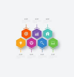Infographics 7 options vector