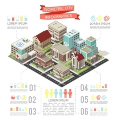 Isometric City Infographics vector