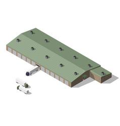 isometric warehouse building vector image