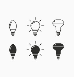 Lamp icon for graphic and web design vector