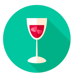 Love drink circle icon vector