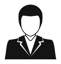 Male avatar profile picture icon simple style vector image