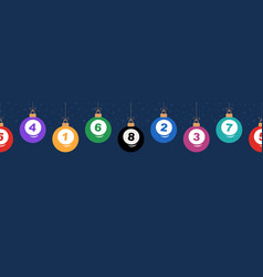 merry christmas billiard seamless horizontal vector image