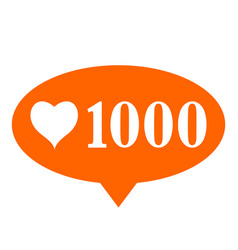 New 1000 like icon on white background vector