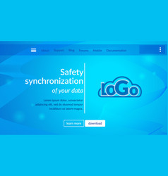online data security website page vector image