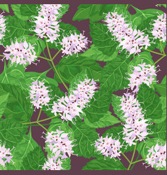 patchouli seamless pattern vector image