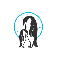 penguin animal lovers logo vector image