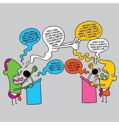 Political debate vector