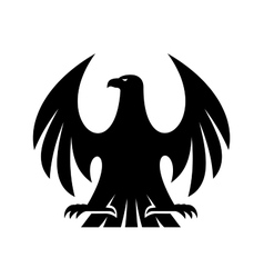 Proud eagle silhouette vector image