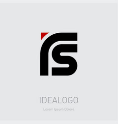 r and s initial logo rs initial monogram logotype vector image