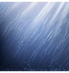 Rain in rays light vector