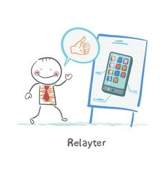 Relayter praises mobile phone vector