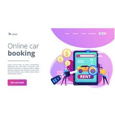 Rental car service concept landing page vector