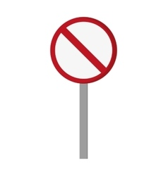 Restriction street sign icon vector
