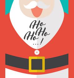 santa laughing with ho-ho-ho text vector image