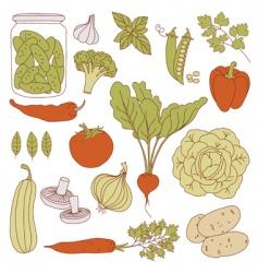 Set health food vector