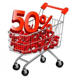 shopping cart discount vector image