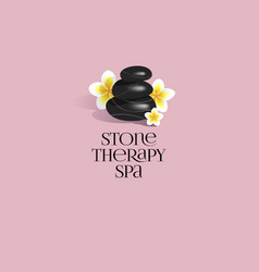 stone therapy spa logo vector image