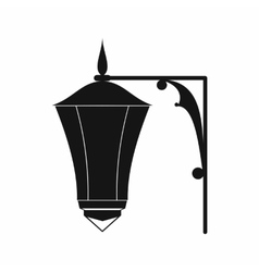 Street light icon simple style vector
