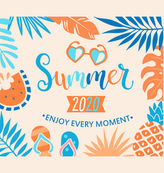 summer 2020 welcome banner vector image