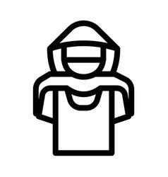 T-shirt shoplifter concept icon outline vector