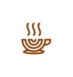 Target coffee logo icon design vector