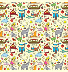 Thailand seamless pattern vector