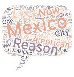 The And One Reasons We Live In Mexico text vector