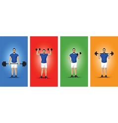 training group colour background vector image