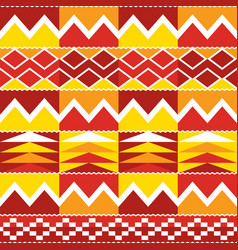Tribal kente geometric seamless pattern african vector