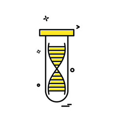 tube dna icon vector image
