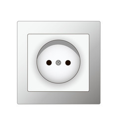 white electrical socket vector image