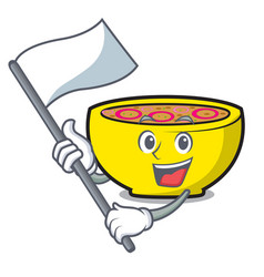 with flag soup union mascot cartoon vector image
