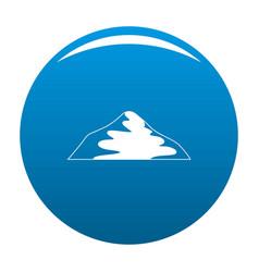 Asian mountain icon blue vector