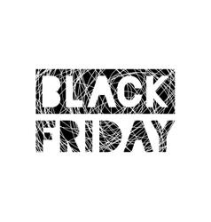 Black Friday scribble grunge stamp on white vector image