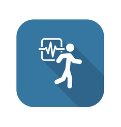 Cardio workout and medical services icon vector