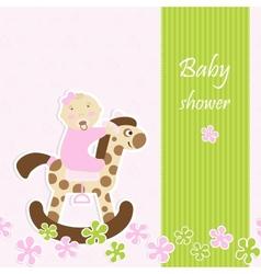 Baby shower - girl vector image vector image