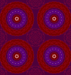 Circle pattern indian red vector