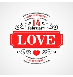 Happy Valentine Day Typographical Background vector image
