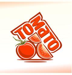 Logo for tomato vector