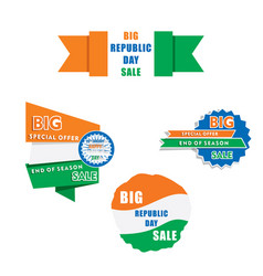 republic day sale banner design vector image