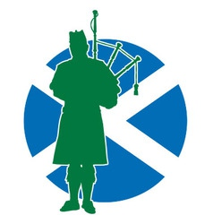 Scottish Piper Flag vector image