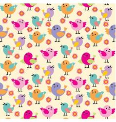 Seamless birds pattern vector image vector image
