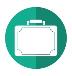travel suitcase modern style eqipment shadow vector image vector image