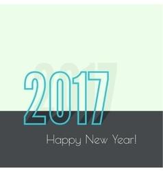 2017 Happy new year vector image vector image